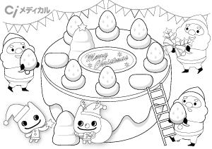 12月サンタケーキ