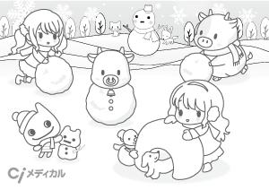 1月雪だるま