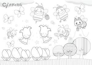3月蝶とミツバチ